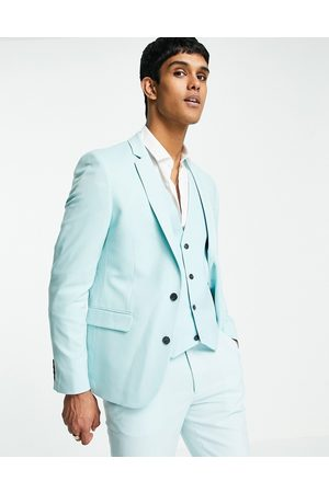 ASOS Wedding skinny suit jacket in ice