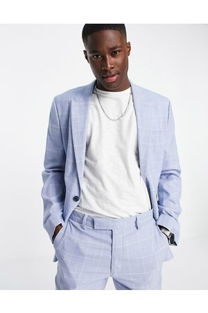 ASOS Skinny suit jacket with prince of wales check in