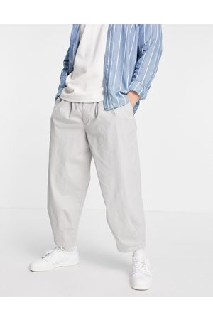ASOS Men Chinos - Wide crop chino trousers in light