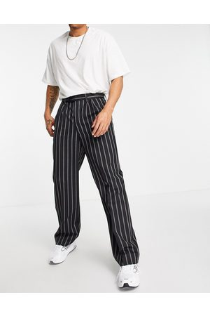 ASOS High waisted wide leg suit trousers in