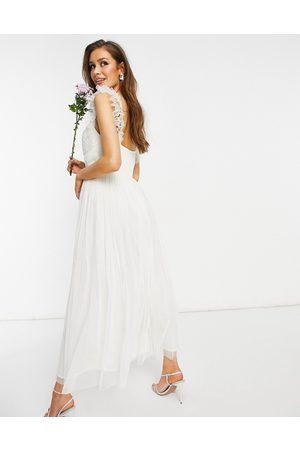 ANAYA With Love tulle frill sleeve midaxi dress in