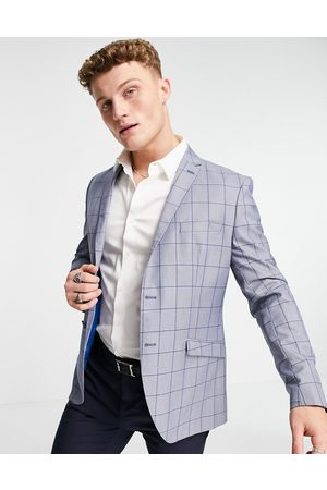 SELECTED Slim check suit jacket in check
