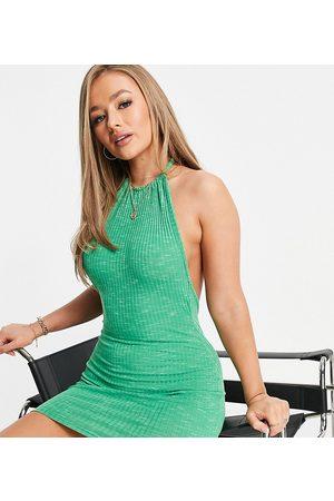 AsYou Women Halterneck Dresses - Halter space dye mini dress in
