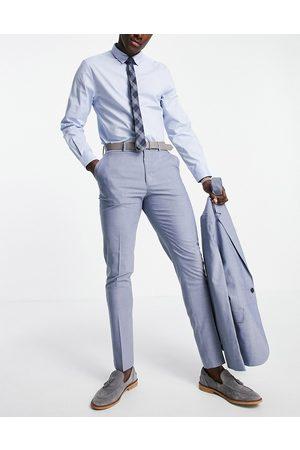 ASOS Wedding skinny suit trousers in mid marl