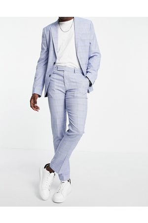ASOS Skinny suit trousers with prince of wales check in