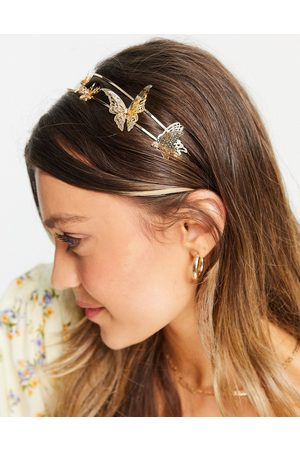 ASOS Metal headband with butterfly detail