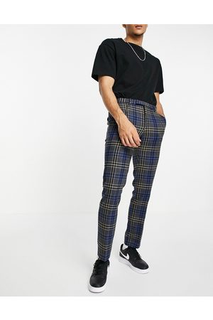 Twisted Tailor Trousers in multi check