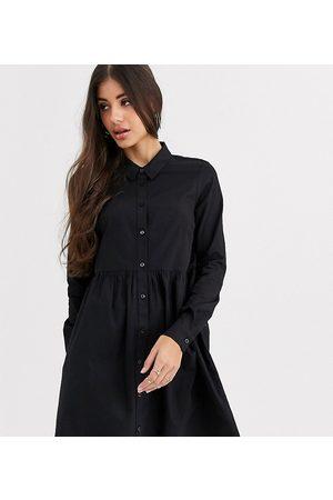 ASOS ASOS DESIGN Tall cotton mini smock shirt dress in