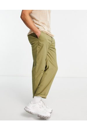 ASOS Relaxed skater chino trousers in light