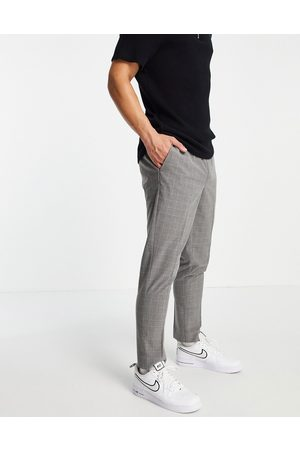 New Look Slim smart trousers in check
