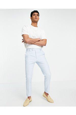 ASOS Wedding skinny suit trousers in geo jacquard