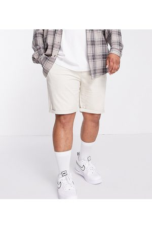 River Island Big & Tall chino shorts in stone-Neutral