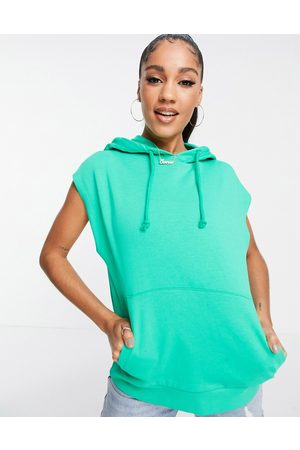 ASOS Sleeveless hoodie in apple