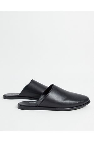 ASOS Backless mule loafer in leather on sole