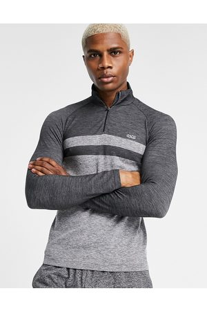 ASOS Muscle fit sweatshirt with 1/4 zip and seamless jersey