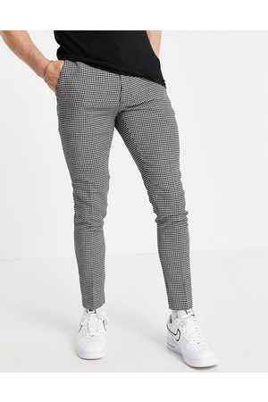 ASOS Super skinny wool mix smart trouser in puppy tooth