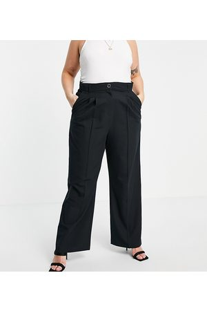 River Island Wide leg pleated tailored trousers in