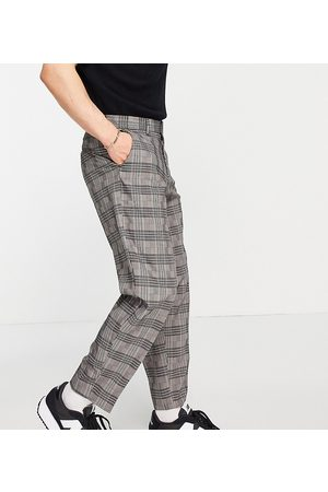 New Look Tapered smart trousers in dark check