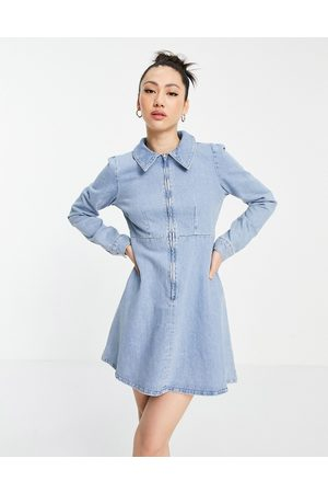 ASOS Women Skirts & Dresses - Denim tennis dress in lightwash