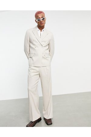 ASOS Wide leg suit trousers in -Neutral