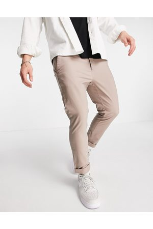 ASOS Super skinny cropped chinos in -Neutral