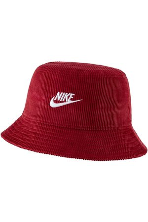 Nike Cord bucket hat in burgundy with logo