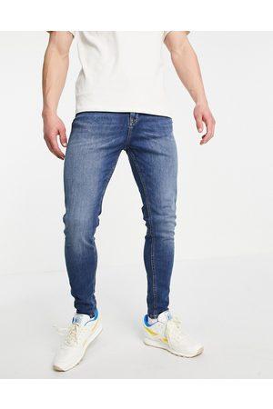 JACK & JONES Intelligence Pete carrot fit jeans in dark