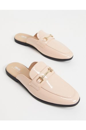 ASOS Men Loafers - Backless mule loafer in patent faux leather