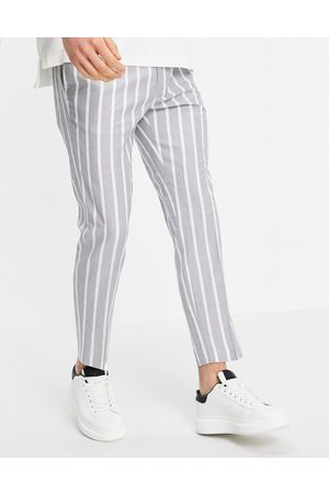 Topman Skinny stripe jogger trousers in and white