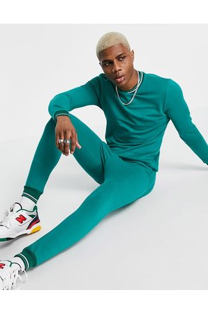 ASOS Organic tracksuit with striped rib in