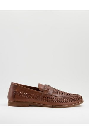 Office Chiswick woven loafers in tan leather