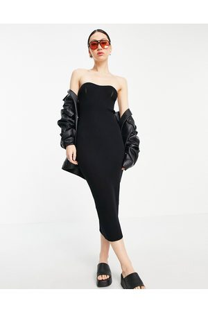ASOS Bandeau maxi dress with sweetheart neckline in