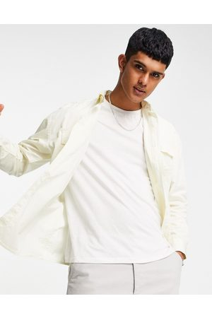 New Look Oversized shirt in off