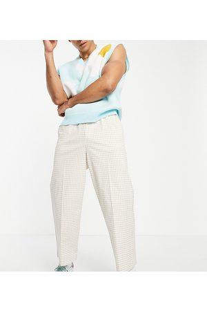 Reclaimed Inspired gingham trouser in -Neutral