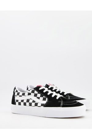 Vans Sk8-Low checkerboard suede trainers in