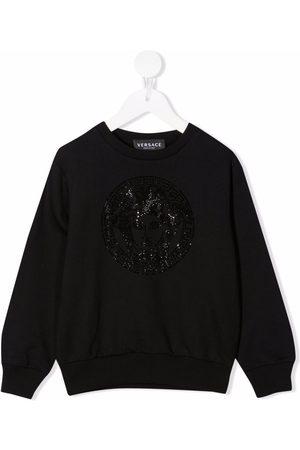 VERSACE Logo baroque embroidered sweatshirt