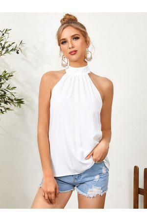 YOINS Halter Backless Design Sleeveless Cami