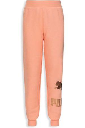 PUMA Girl's Classic Logo Cotton Fleece Joggers