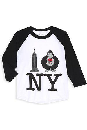 PiccoliNY Girls Long Sleeve - Little Kid's King Kong I Love NY Raglan T-Shirt