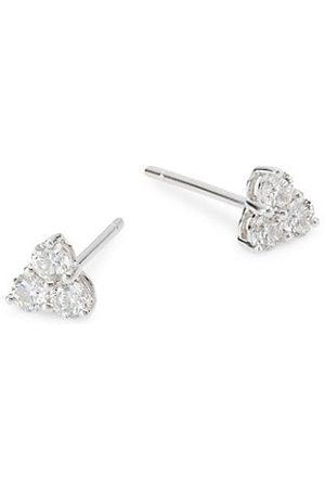 Anita Earrings - 18K & 0.42 TCW Diamond Medium Trillion Studs