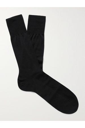 FALKE No 4 Mulberry Silk-Blend Socks