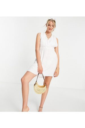 ASOS DESIGN Tall recycled gathered detail mini beach dress in