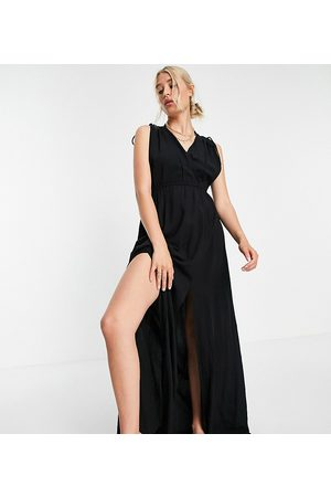 ASOS DESIGN Tall recycled gathered detail maxi beach dress in