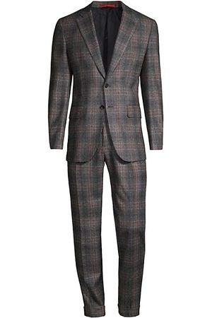 ISAIA Men Suits - Glen Plaid Wool Suit