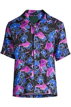 ROI DU LAC Men Casual - Atene Del Nord Vibrant Floral Camp Shirt