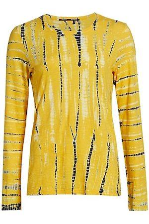 Proenza Schouler Women Long Sleeve - Tie-Dye Long Sleeve Cotton T-Shirt