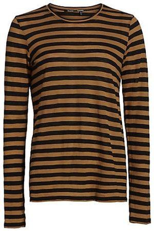 Proenza Schouler Stripe Long Sleeve Cotton T-Shirt