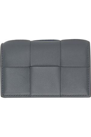 Bottega Veneta Grey Intrecciato Fold Card Holder