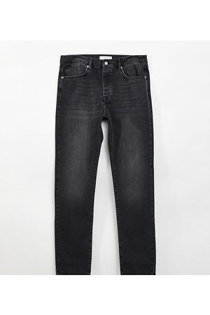 Topman Big straight leg jeans in washed
