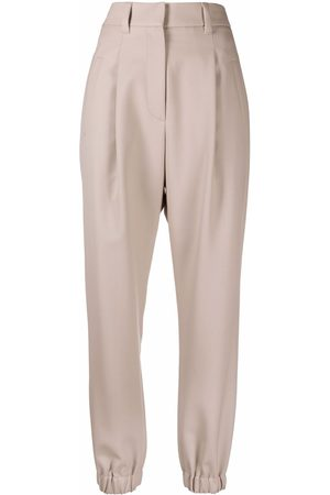 Brunello Cucinelli Elasticated-ankle tapered trousers